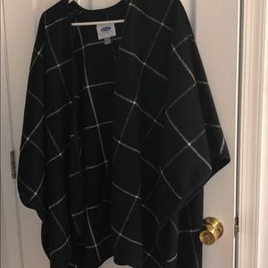 Old Navy wrap/open poncho/cape